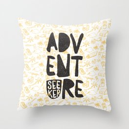 ADVENTURE SEEKER Throw Pillow