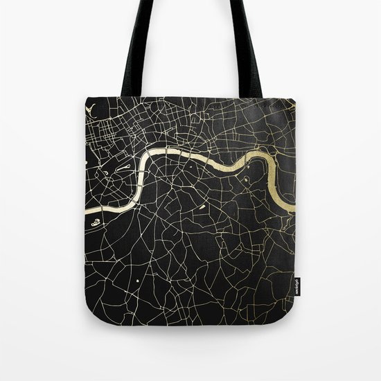 London Black on Gold Street Map by mapmaker