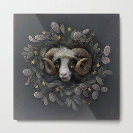 Lunaria star wreath Metal Print