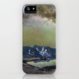 Milky way over loveland pass iPhone Case