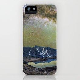 Milky way over loveland pass iPhone Case