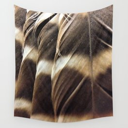 Barred Owl Feathers Wall Tapestry