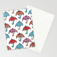 watercolour umbrella Stationery Cards