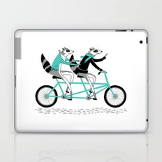 Cycling Raccoons Laptop & iPad Skin