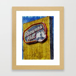 Natty Boh sign in Brewers Hill Baltimore Framed Art Print