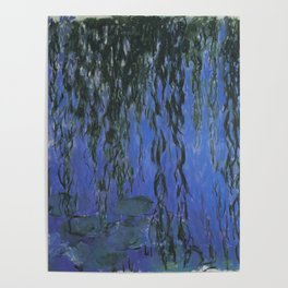 Water Lilies and Weeping Willow Branches by Claude Monet Poster