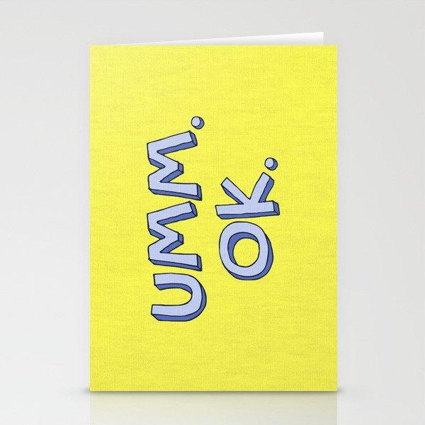 Umm OK Stationery Cards