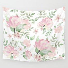 Hazy Spring Floral Design Wall Tapestry