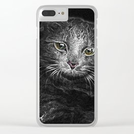 Lunar Essence of the Siberian Kitty Cat Clear iPhone Case