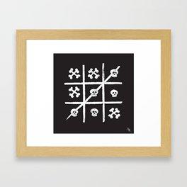 Skull + Bones Framed Art Print