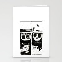 death Stationery Cards featuring Death by Lee Grace Design and Illustration