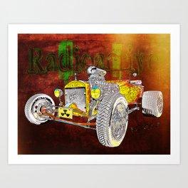 Radioactive Rod Art Print