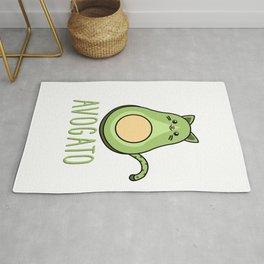 Cute Funny Avocado Cat Kawaii Avogato Cinco De Mayo Gift Rug