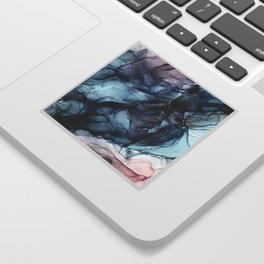 Blush and Darkness Abstract Paintings Sticker