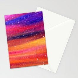 Snowy Sky Stationery Cards