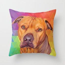 Rainbow puppy Throw Pillow