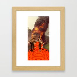 Disco Inferno Framed Art Print