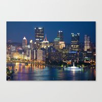 pittsburgh Canvas Prints featuring Pittsburgh by Cody Rayn