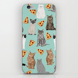 Cats pizza slices food cat lover pet gifts must have cat breeds iPhone Skin