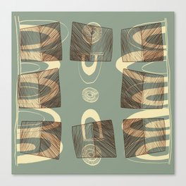 Tupi - Brazilian Indigenous Pattern (BR) Canvas Print