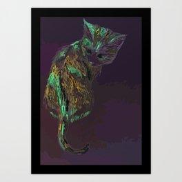 Curious Calico Art Print
