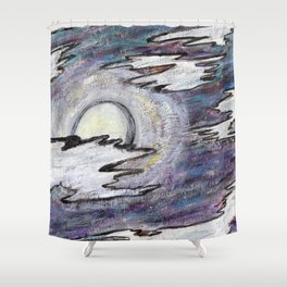 Moon in the Cool Shower Curtain