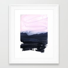 pink & blue Framed Art Print