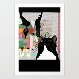 Kats At The Museo or Doppelganger Party Art Print
