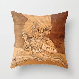 Bound Trio Throw Pillow
