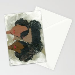 Afro Puff Girls Stationery Cards