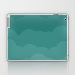 Teal Ombre Clouds Laptop & iPad Skin
