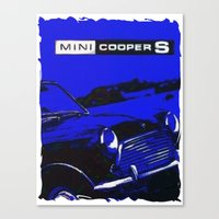 mini cooper Canvas Prints featuring Mini Cooper 2 by elkart51