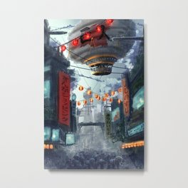 Shopping District Metal Print