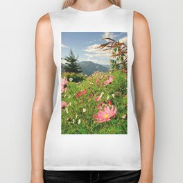 Summer Flower Field Biker Tank