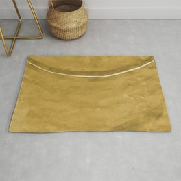 Cohesion Watercolor Print in Yellow Rug