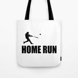 home run baseball sports hobby Tote Bag