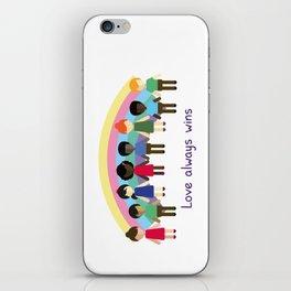 Love always wins iPhone Skin