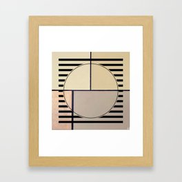 Toned Down - line graphic Framed Art Print