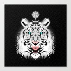 Silver Geometric Tiger Canvas Print