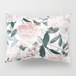 Blush Sepia Flowers Pillow Sham