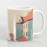 castle in the sky Mugs featuring Castle in the Sky by Schwebewesen • Romina Lutz