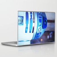 r2d2 Laptop & iPad Skins featuring R2D2 by Zayda Barros