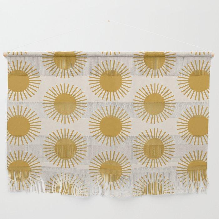 Golden Sun Pattern Wall Hanging