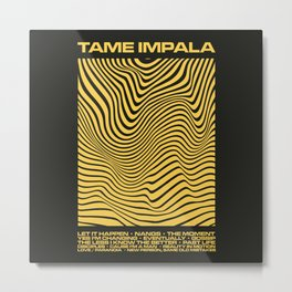Tame Impala Currents Design Metal Print