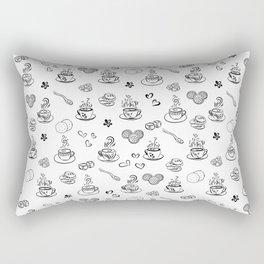 Tea time black on white Rectangular Pillow