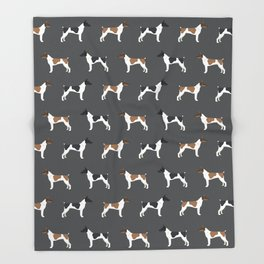 Rat Terrier dog breed decor gifts pure breed dogs Throw Blanket