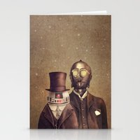 victorian Stationery Cards featuring Victorian Robots  by Terry Fan