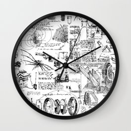 Da Vinci's Sketchbook Wall Clock