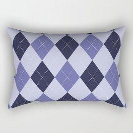 Blue Argyle Pattern Rectangular Pillow