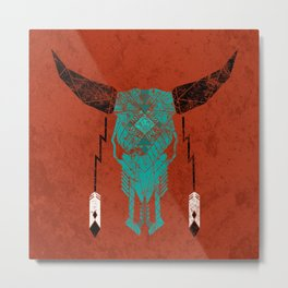 Southwest Skull Metal Print